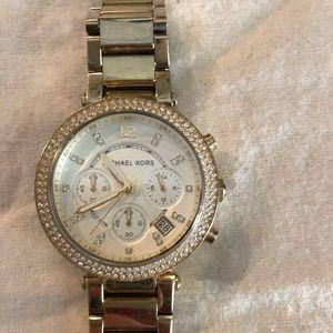 Michael Kors Gold Diamond Watch